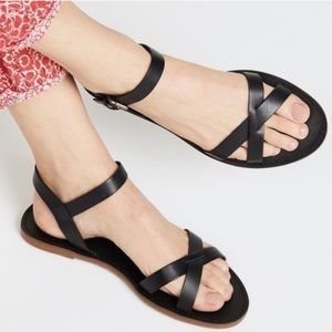 Madewell Boardwalk Leather Criss Cross Sandals